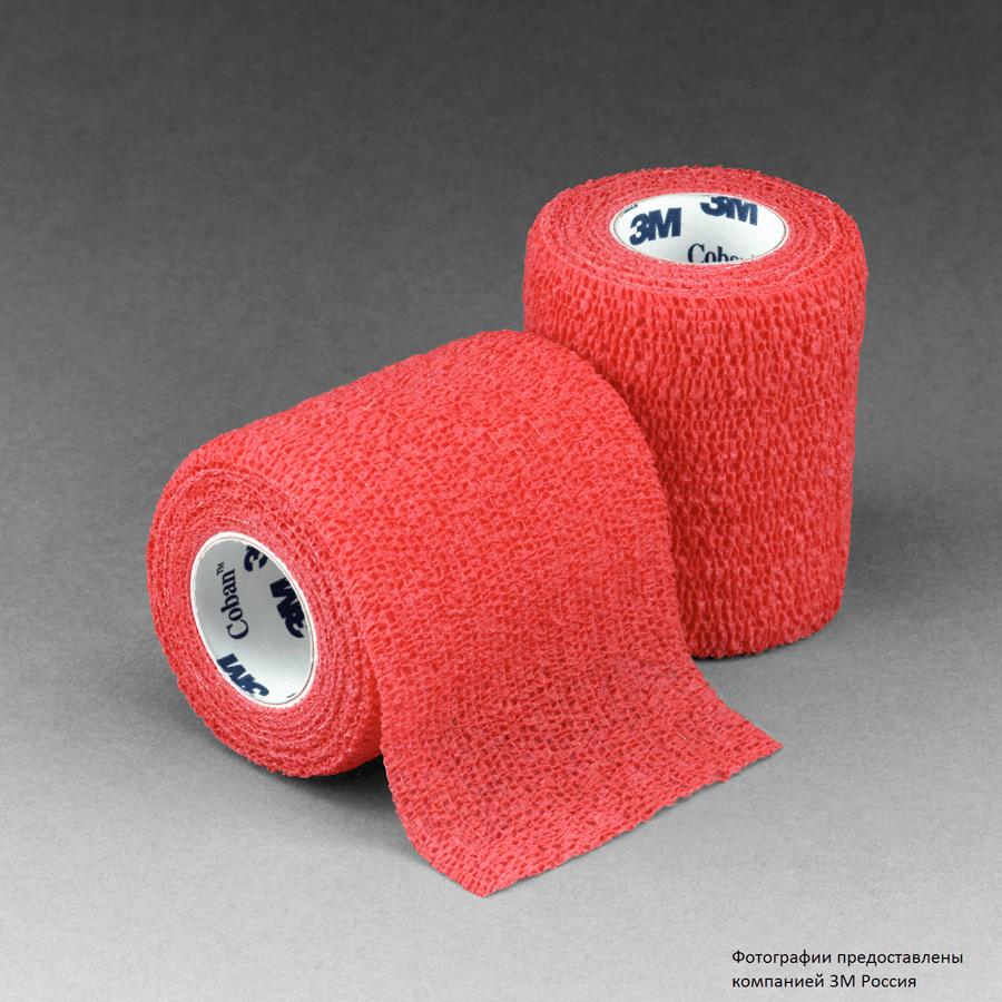 Эластичный самоскрепляющийся бинт. Фиксирующий самоскрепляющейся эластичный бинт 3M™ Coban™ (Кобан) 1583r