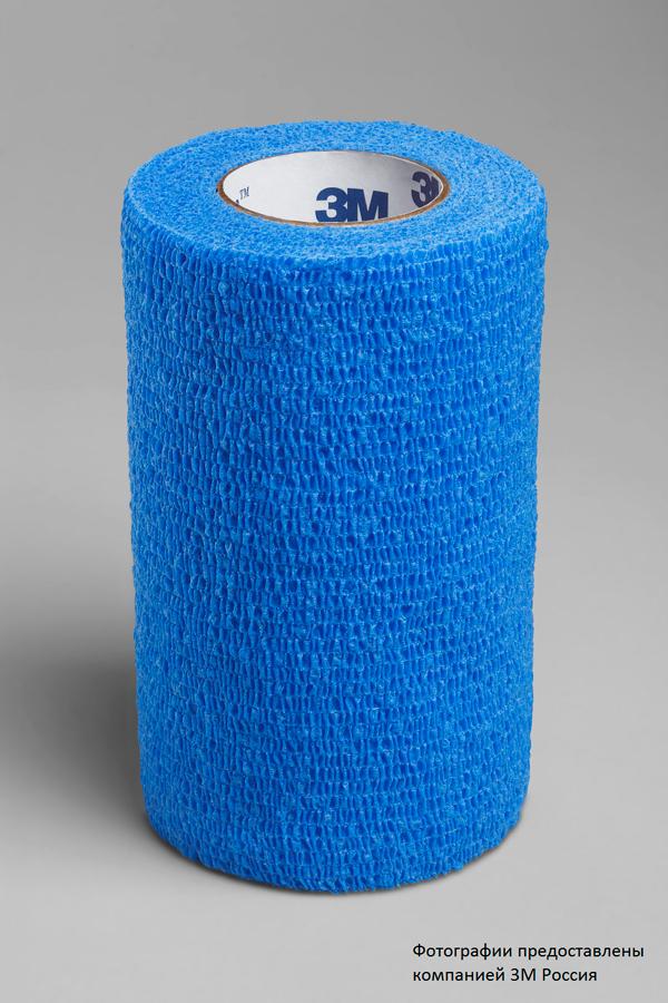 Эластичный самоскрепляющийся бинт. Фиксирующий самоскрепляющейся эластичный бинт 3M™ Coban™ (Кобан) 1584b