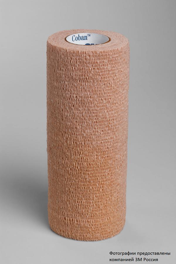 Эластичный самоскрепляющийся бинт. Фиксирующий самоскрепляющейся эластичный бинт 3M™ Coban™ (Кобан) 1586