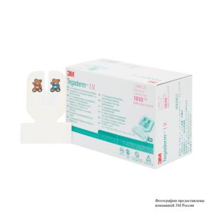 Пленочная прозрачная наклейка 3М™ Tegaderm™ I.V. (Тегадерм Айви) для детей 5,0 x 5,7 см, U-образный вырез 1610
