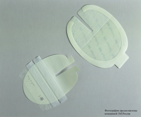 Пленочная прозрачная наклейка 3М™ Tegaderm ® (Тегадерм) 8,5 x 10,5 см, U-образный вырез 1635
