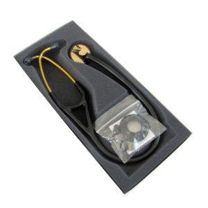 ЗМ™ Littmann® (Литманн) Master Cardiology®, черная трубка, акустическая головка и оголовье цвета латунь, 69 см 2175