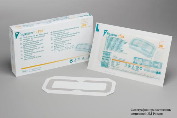 Пленочная прозрачная повязка 3М™ Tegaderm ® + Pad (Тегадерм плюс Пад) 3590