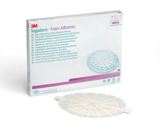 Высокоэффективная губчатая клеящаяся повязка 3M™ Tegaderm™ Foam Adhesive (Тегадерм Фом Адгезив) 90616