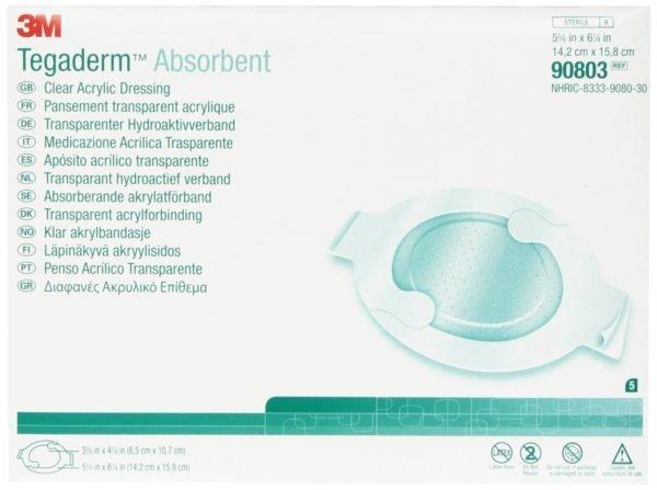 Абсорбирующая прозрачная акриловая повязка 3M™ Tegaderm™ Absorbent (Тегадерм Абсорбернт) 90803