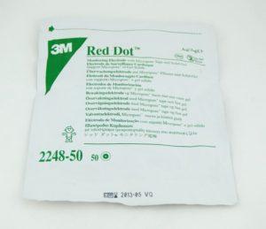 Электроды 3M™ Red Dot™ (Ред Дот) на основе Micropore™ с твердым гелем, педиатрические, не рентгенопрозрачные , 2248-50