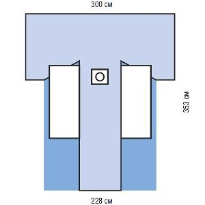 Простыня для операций на бедре с карманами, 8 шт/кор, 2 кор/ящ, 9055