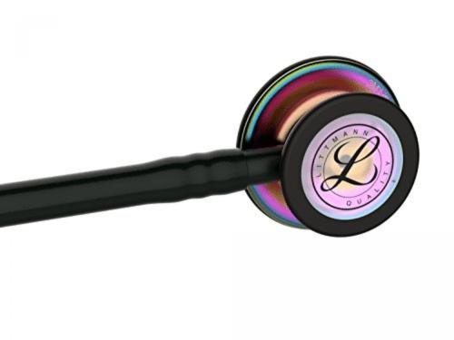 Littmann Classic III, черная трубка, 69 см, радужная акустическая головка, черные ушные наконечники