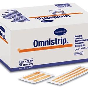 Омнистрип (Omnistrip®) - Гипоалл. полоски на опер. швы (стер. по 5 шт) 3 х 76 мм; 250 шт.