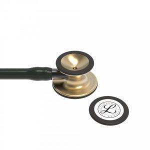 Littmann® Cardiology IV, черная трубка, 69 см, акустическая головка цвета латунь