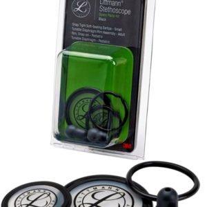 Набор запасных частей для стетоскопа Littmann Cardiology III (малые ушные наконечники, диафрагма: малая, большая, обод), цвет черный 40003