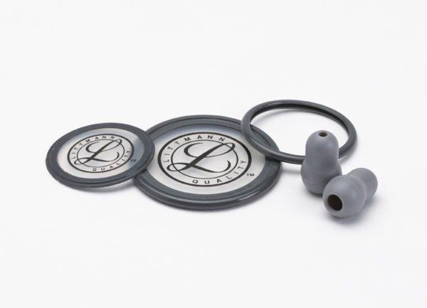 Набор запасных частей для стетоскопа Littmann Cardiology III (малые ушные наконечники, диафрагма: малая, большая, обод), цвет серый 40004