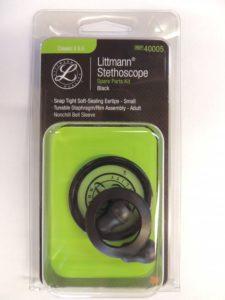Набор запасных частей для стетоскопа Littmann Classic II S.E. (малые ушные наконечники, диафрагма, обод), цвет черный 40005