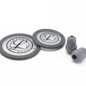 Набор запасных частей для стетоскопов Littmann Classic III (малые ушные наконечники, диафрагма: малая, большая, обод), цвет серый 40017